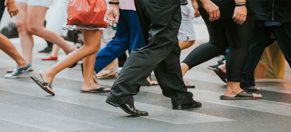 Gente en calle Florida de Buenos Aires