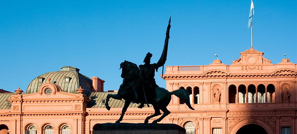 Casa Rosada en Plaza de Mayo