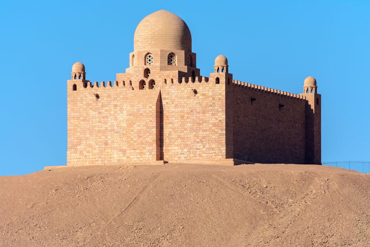 Como es el Mausoleo del Aga Khan