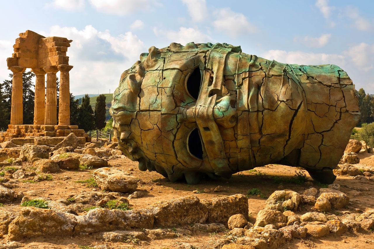 Valle de los Templos en Agrigento en Sicilia