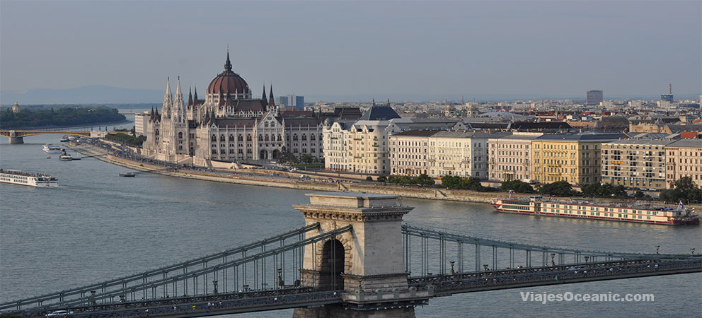 Vista panoramica del Danubio