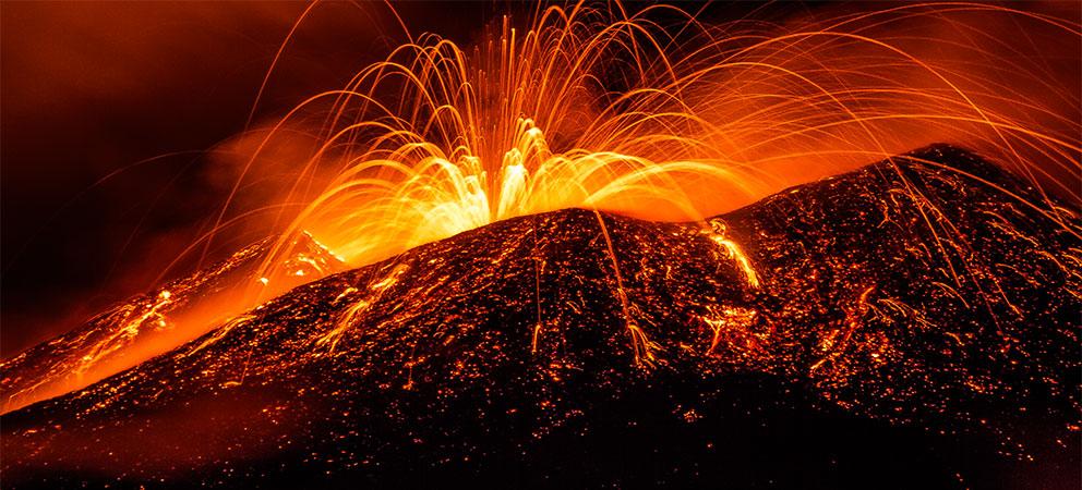 Volcan Etna en Sicilia