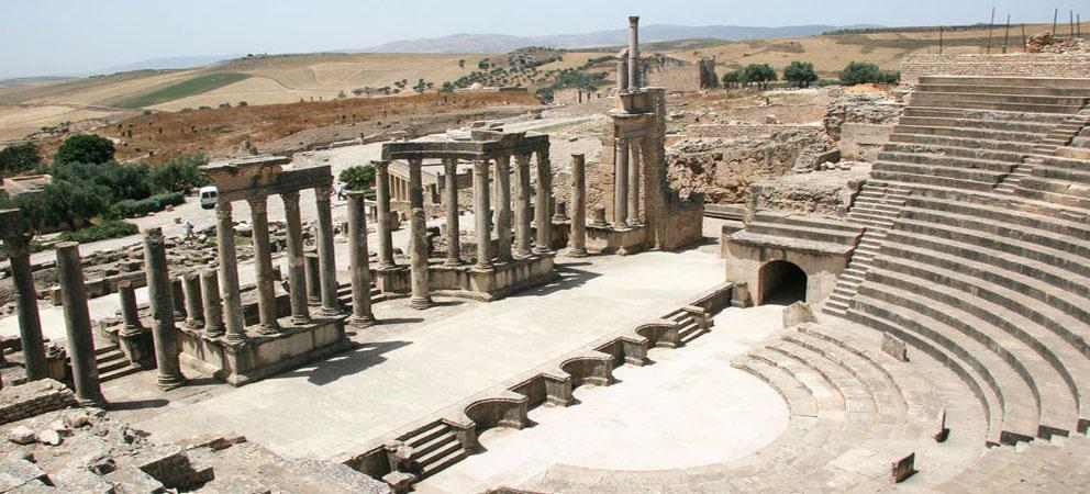 Teatro romano de Dougga en Tunez