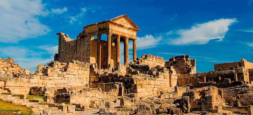 Ruinas Romanas de Dougga en Tunez