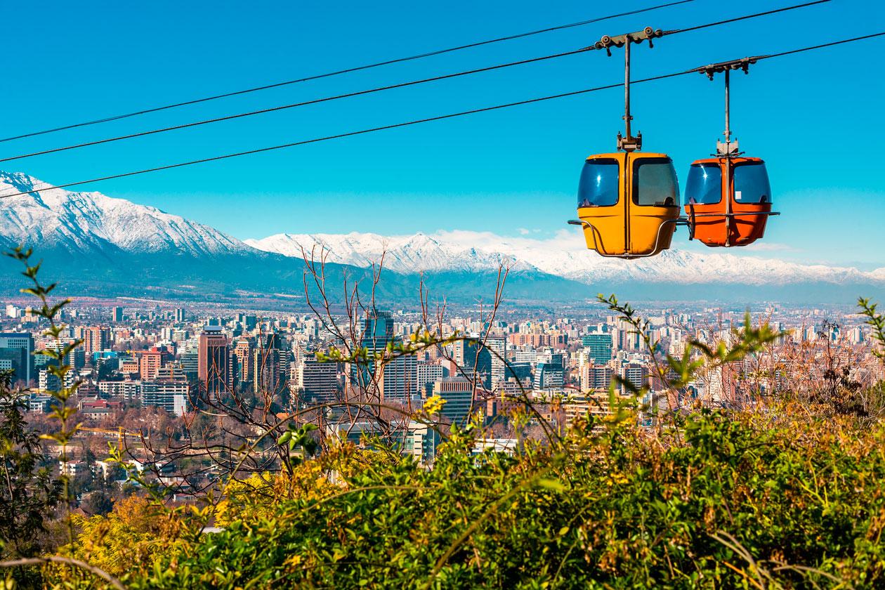 Cerro de San Cristobal en Santiago de Chile