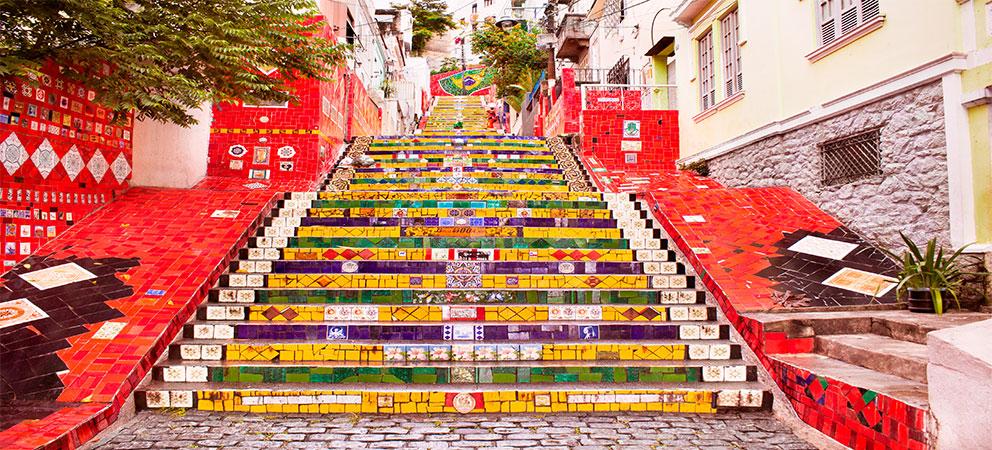 Escalera Jorge Seralon en Rio de Janeiro