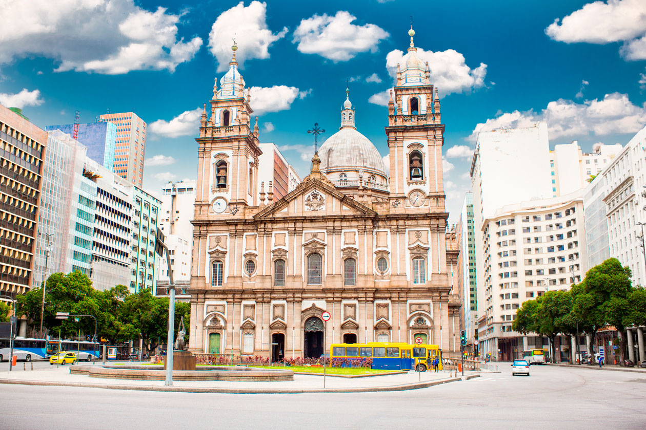 Iglesia de la Candelaria en Rio de Janeiro