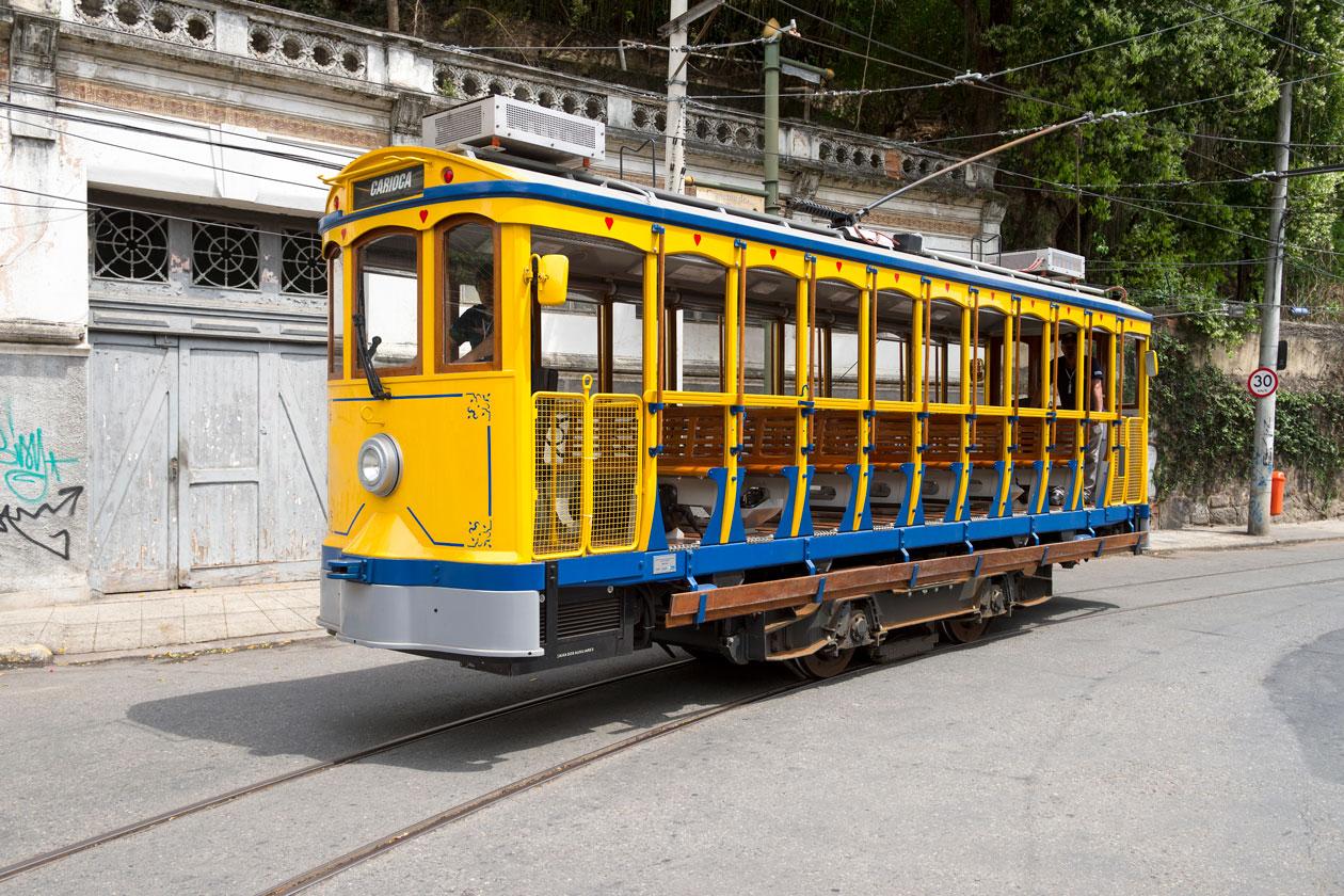 Tren calles de Santa Teresa en Rio de Janeiro