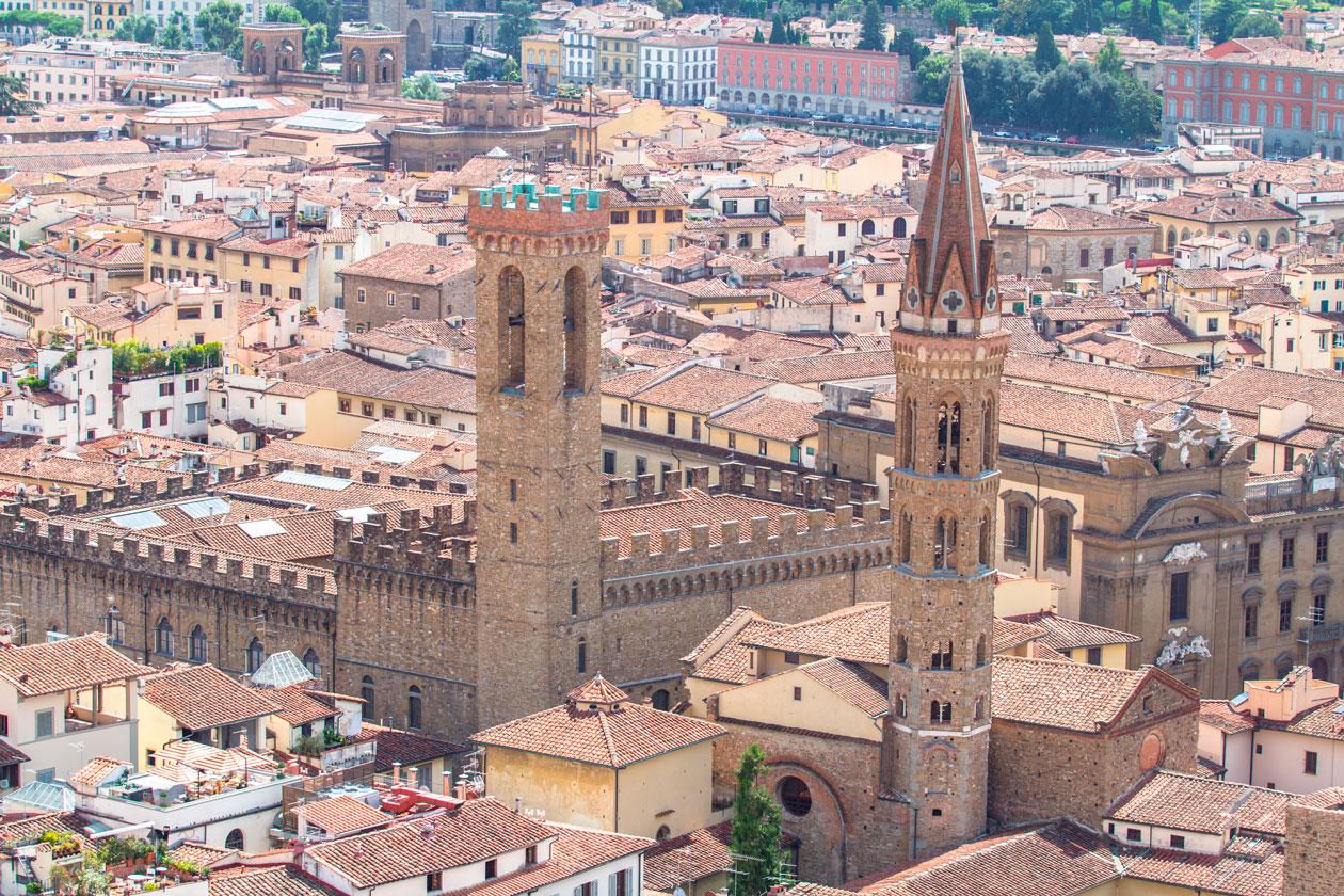 Vista aerea de Florencia