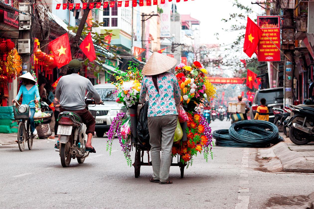 Calles de Hanoi en Vietnam