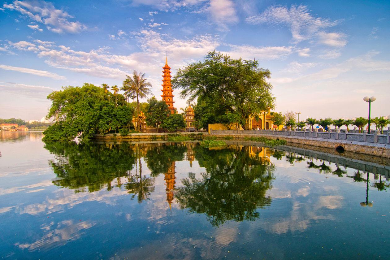 Lago Tay en Hanoi