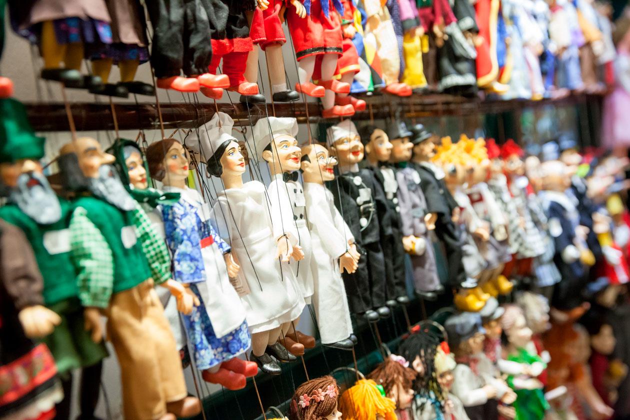 Comprar marionetas en Praga