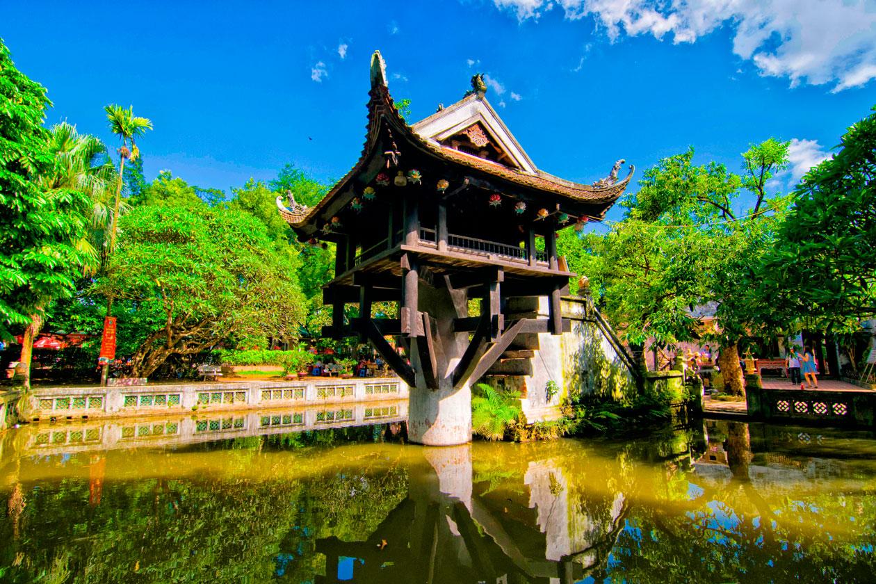 Pagoda del Pilar Unico en Hanoi