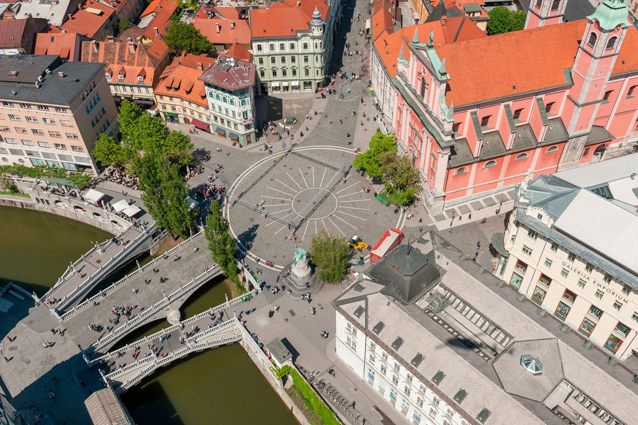 Vista aerea de Ljubljana