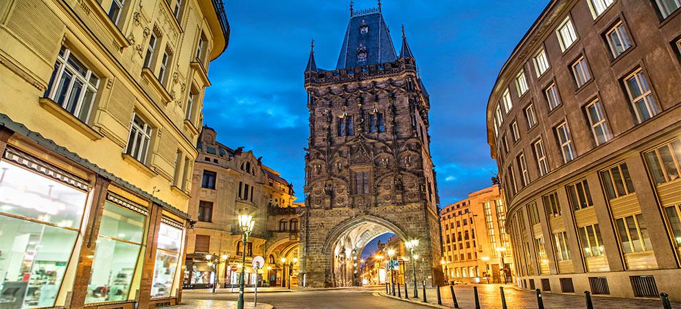 La Torre de la Polvora en Praga