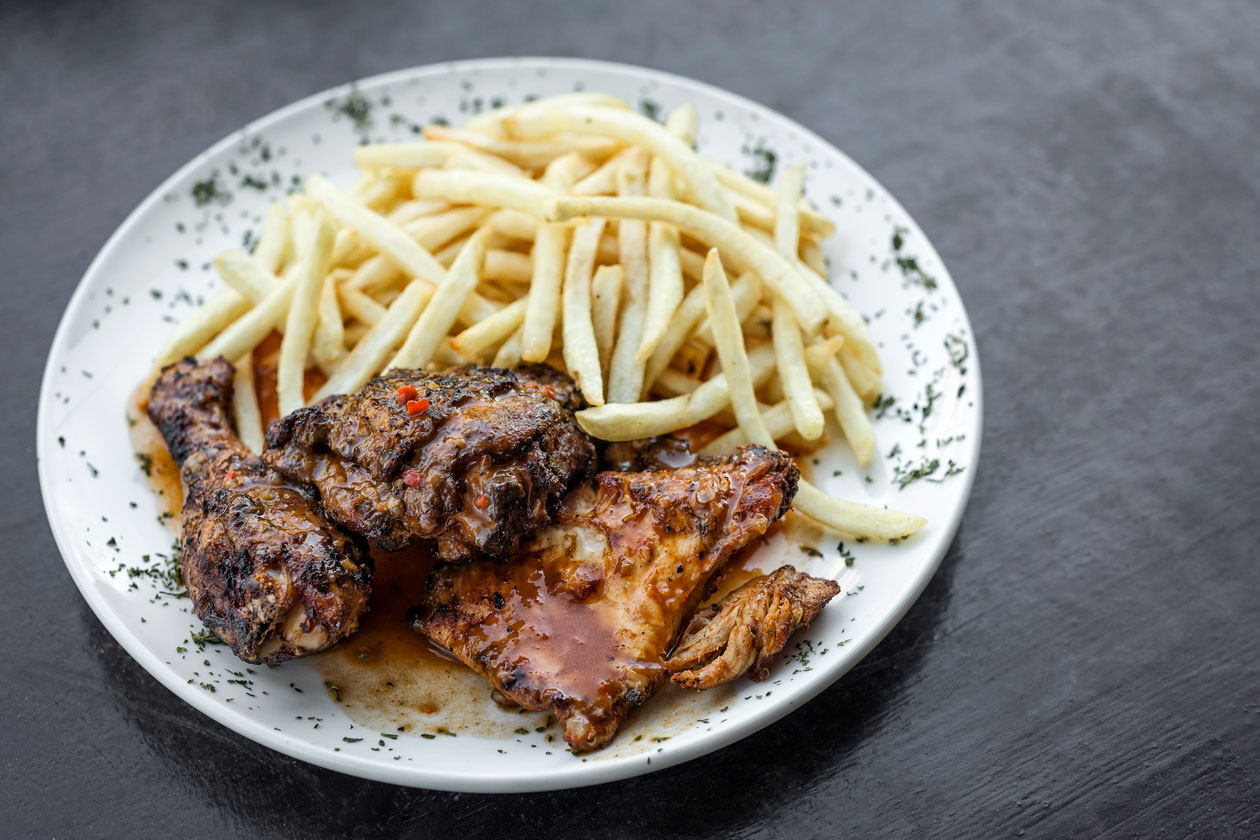 Plato de pollo tipico Lisboa