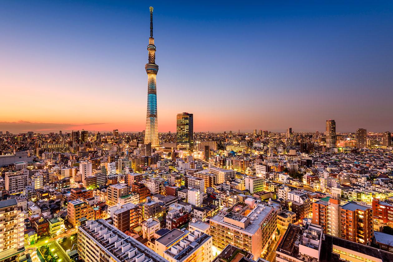 Vista aerea de Tokio