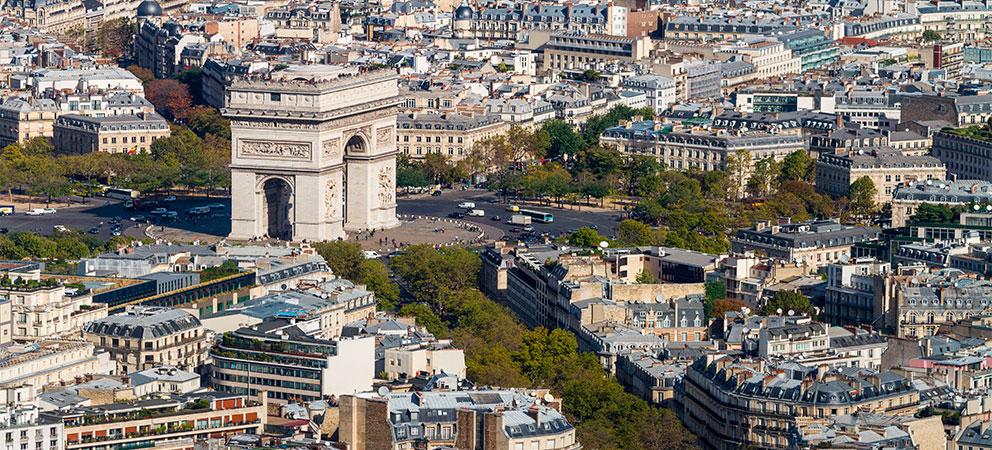 Donde se encuentra el Arco del Triunfo de Paris