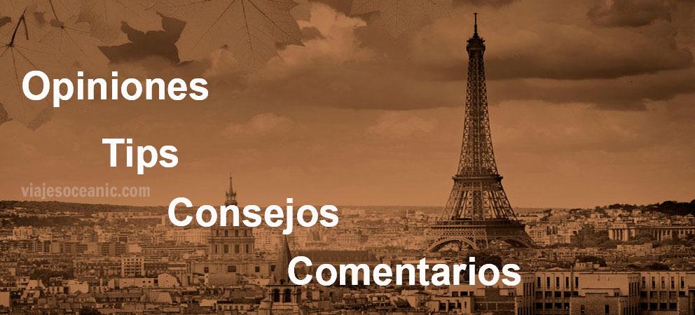 Tips y consejos de Paris