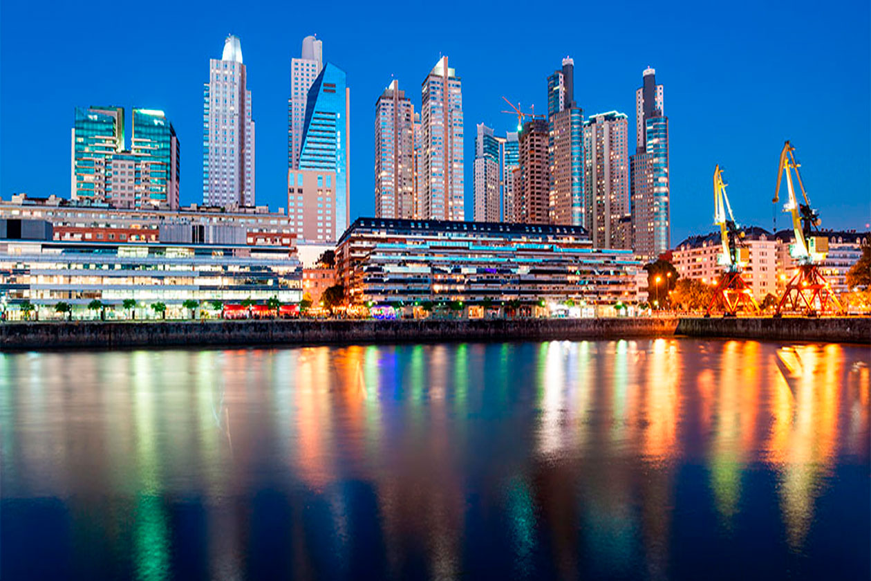 Puerto Madero de Buenos Aires por la noche
