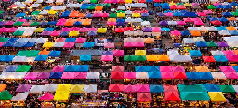 Como es el Mercado Chatuchak de Bangkok