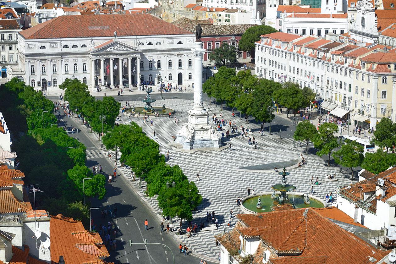 Barrio La Baixa en Lisboa
