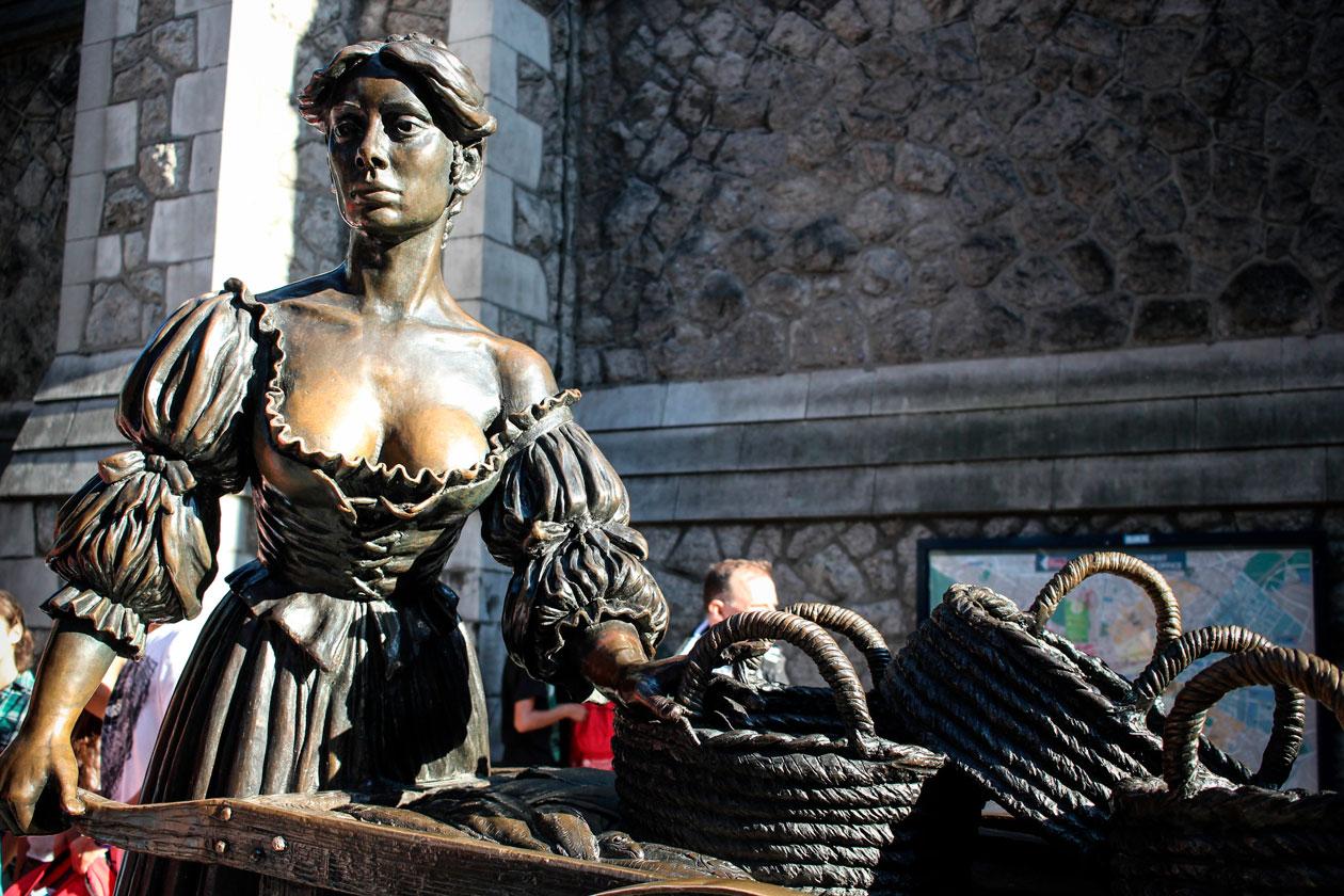 Escultura urbana en Dublin