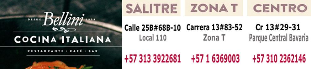 Restaurantes italianos en Bogota