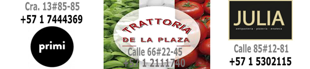 Donde estan los restaurantes italianos en Bogota
